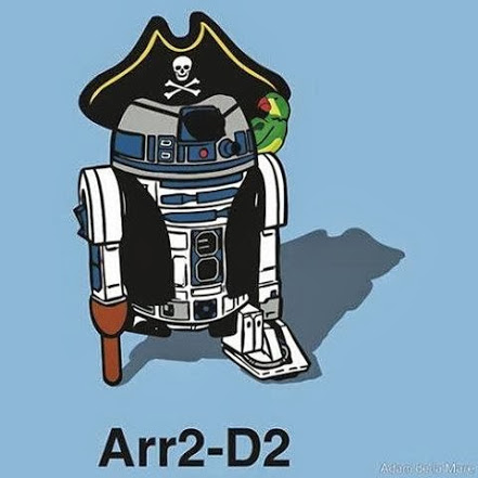R2-D2 dressed like a pirate