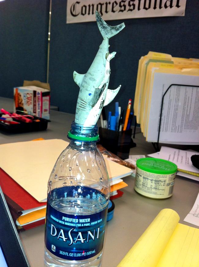 Sheamus in the water bottle
