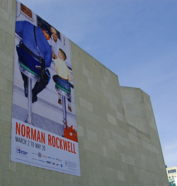 Rockwell Exhibit Poster in Winnipeg