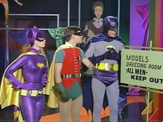 Batgirl, Robin and Batman