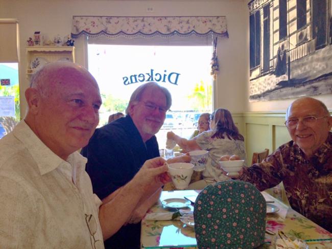 Men enjoying Dickens Tea Room
