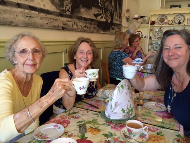 Ladies enjoying Dickens Tea Room