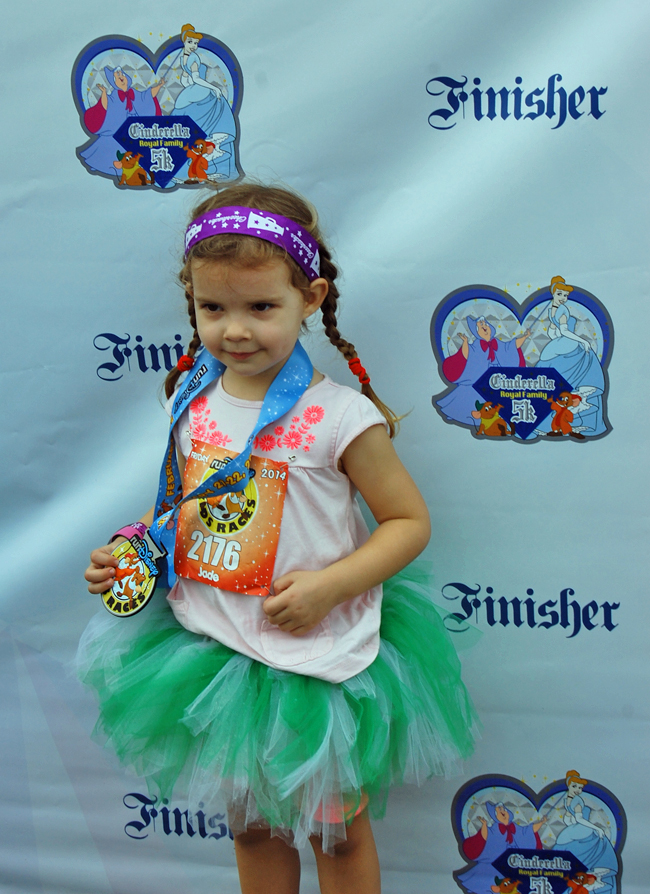 Jade photographed in the winners circle with her medal.