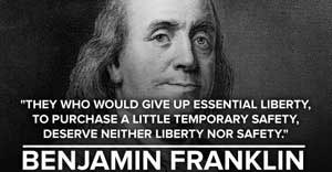 Benjamin Franklin quote about security