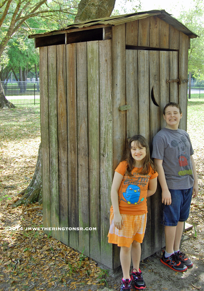 According to both Mikey and Heather, this was the first time they had ever heard of outhouses. After getting a look inside, they were thankful for indoor plumbing.