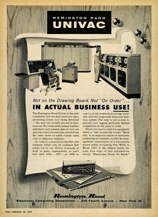UNIVAC Time Magazine ad 1955