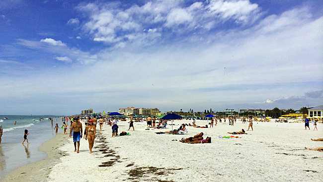 Clearwater Beach on a gorgeous April day.