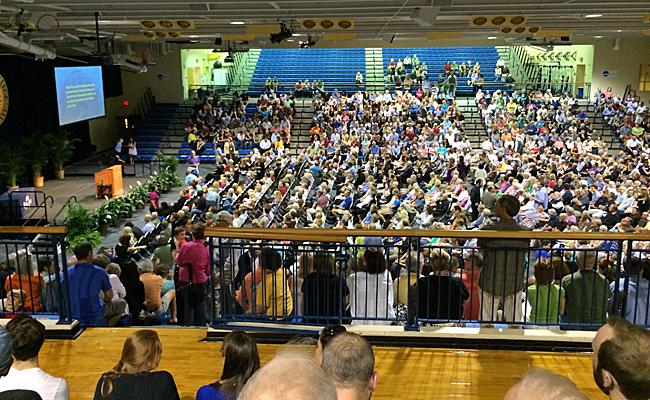 Crowd at Alfond Sports Center to hear Ken Burns