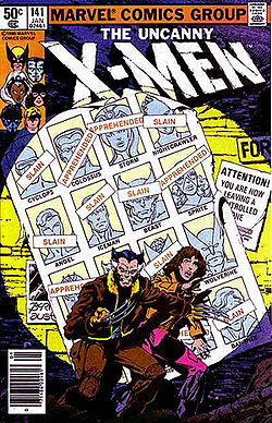 "Cover of X-Men 141 ""Days of Future Past"""