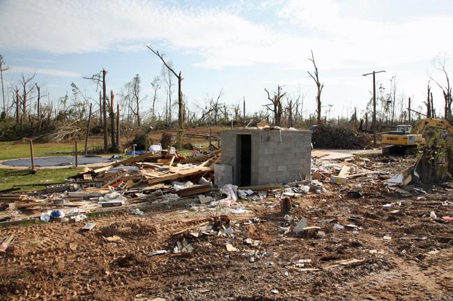 safe room survives tornado destruction