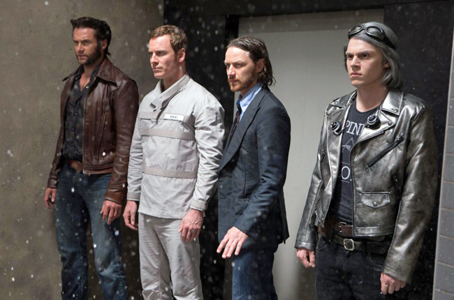 Wolverine, Magneto, Professor X and, hey, who's the guy on the far right?