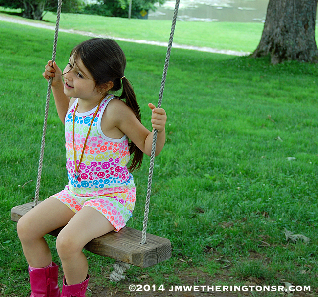 What kid can resist a swing in a tree?