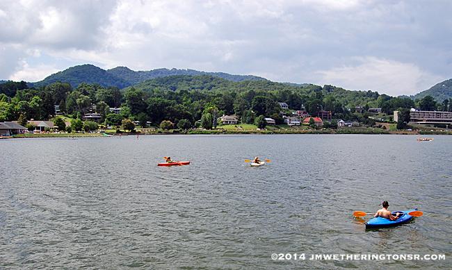 Kayakers on Lake Junaluska.