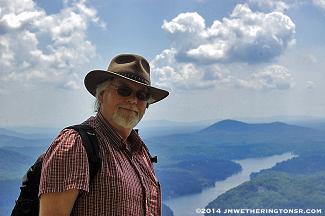 Yours truly with Lake Lure in the background.