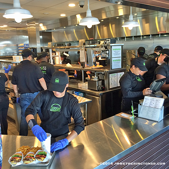 Workers at the Shake Shack in Winter Park, Florida.