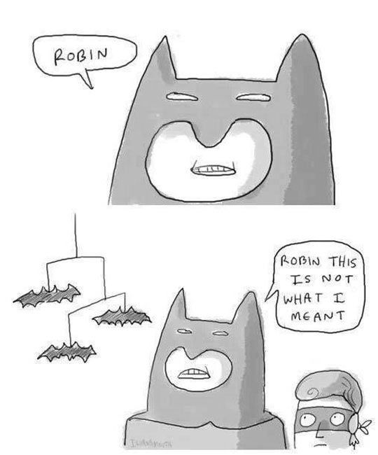 Batmobile Pun Cartoon