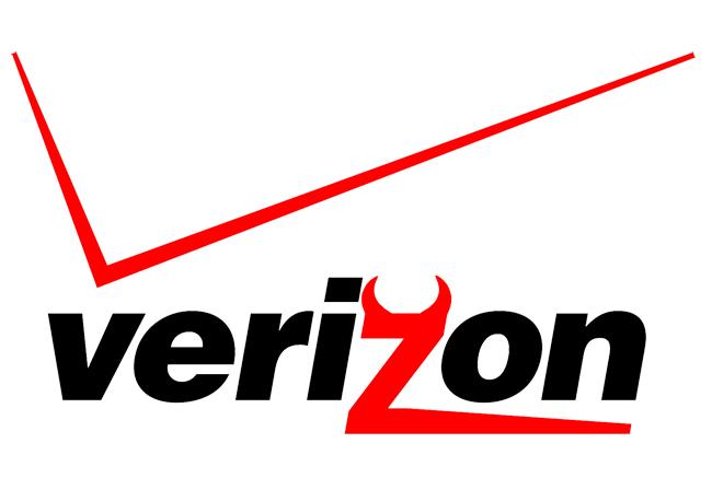 Verizon Log with Devil Horns