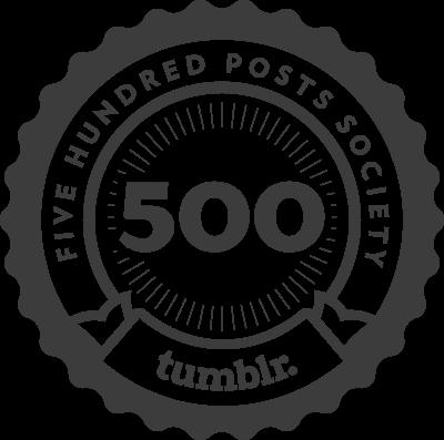 Tumblr 500 Posts Seal