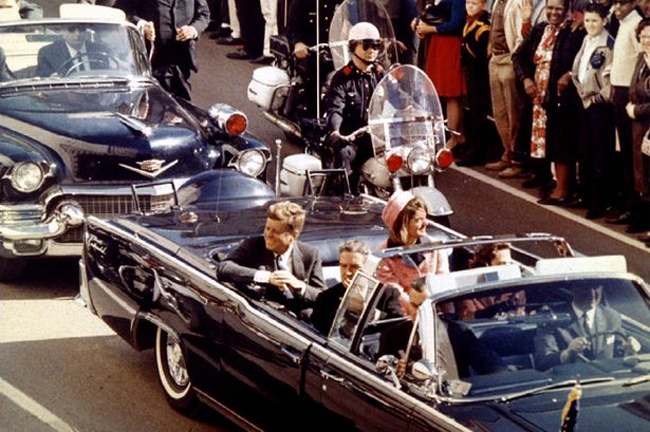 John F. Kennedy motorcade in Dallas, Texas
