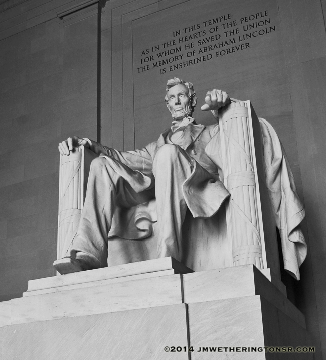 Lincoln Memorial in Black & White by J.M. Wetherington, Sr.