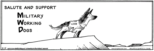 Mutts Veterans Day Comic Strip