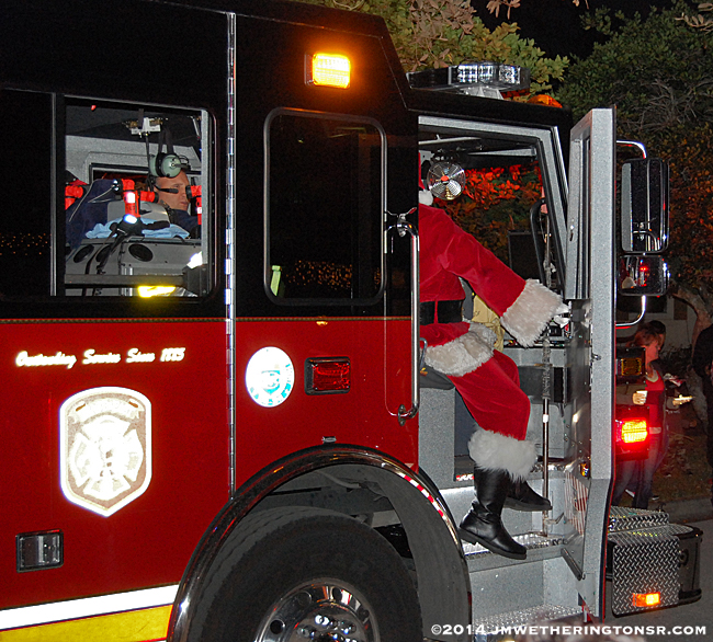 Neighborhood Association Firefighter Santa Claus