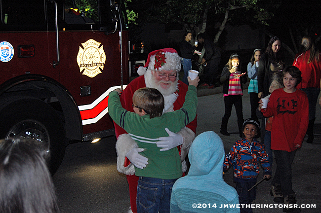 Neighborhood Firefighter Santa Claus