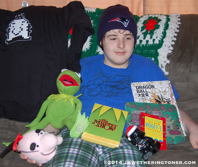 Mikey and Christmas gifts