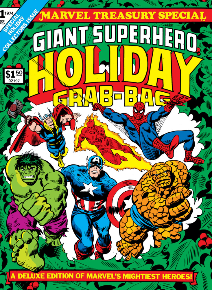 Giant Superhero Holiday Grab Bag cover from 1974