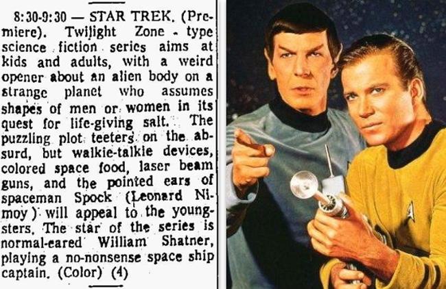 Original Star Trek TV Guide Listing