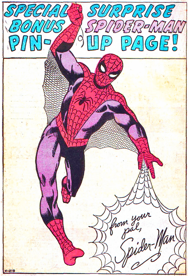 Spider-Man Pin-up by Steve Ditko