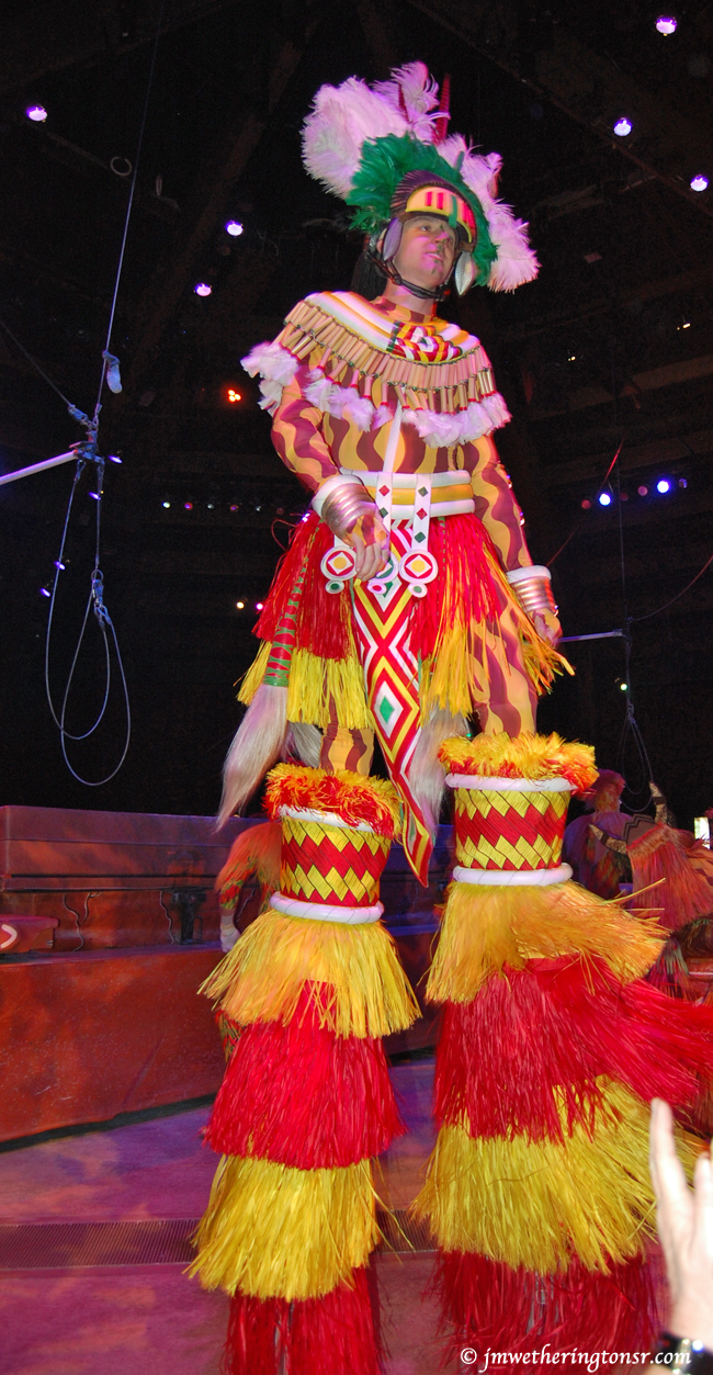 Stilt-walker at Disney Animal Kingdom