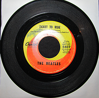 45 RPM record by The Beatles