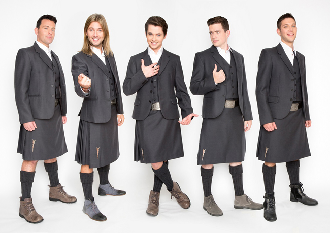 Celtic Thunder in kilts 2015