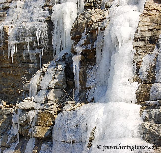 Frozen waterfall in Kentucky