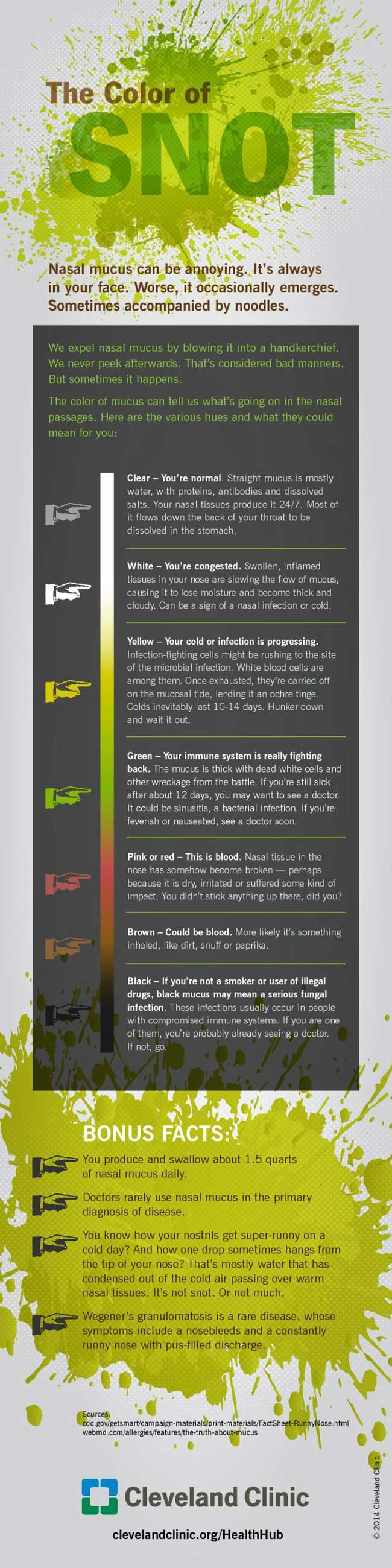 Color of Snot Infographic