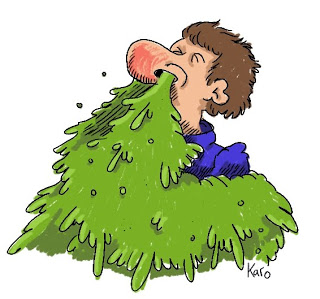 Snot flowing out of nose cartoon