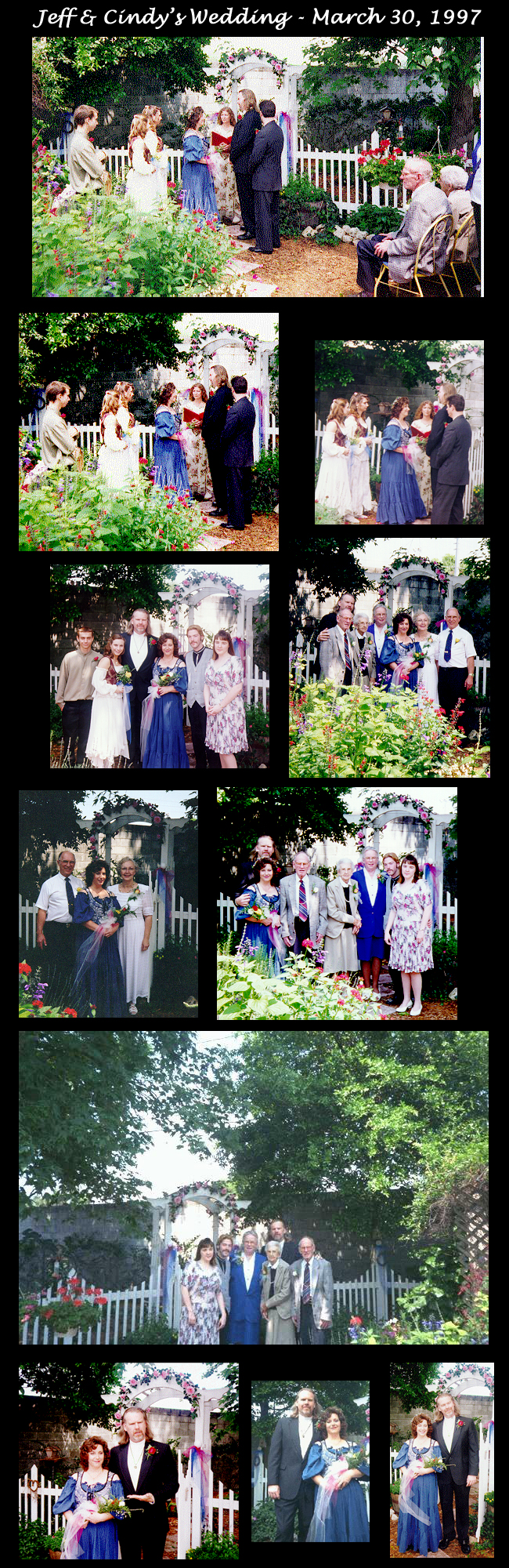 Jeff & Cindy Wedding Photo Collage