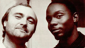 "Phil Collins and Philip Bailey in ""Easy Lover"""