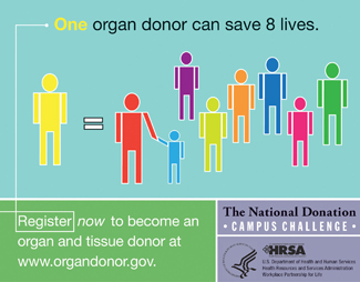 One Organ Can Save 8 Lives graphic