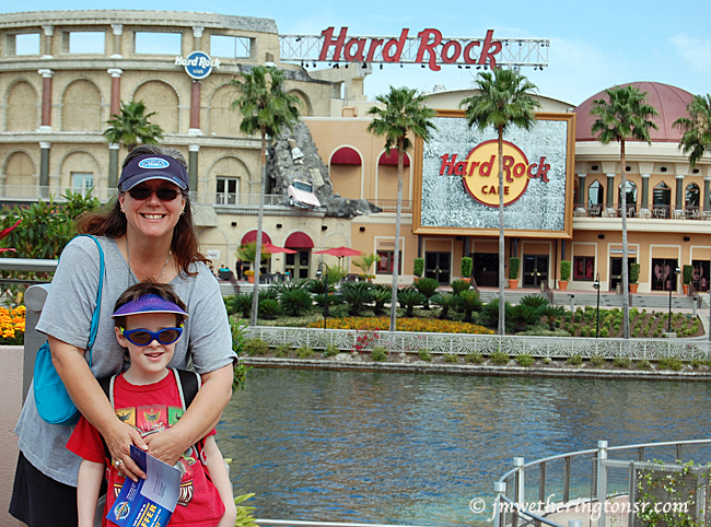 Grandma and Mikey at Universal Studios