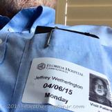 Hospital Visitor Badge