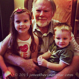 Jade and Maxwell with Granddad