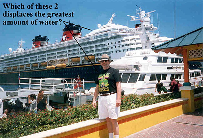 Jeff in front of the Disney Cruise ship in Nassau, 1999.
