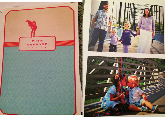 Father's Day card, front and inside left from Wendy, Jeremy, Jade and Maxwell