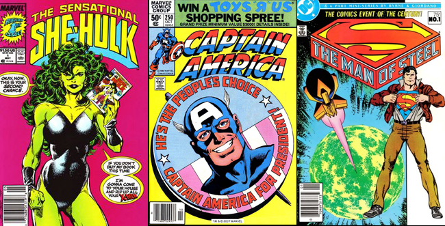 Various covers by John Byrne