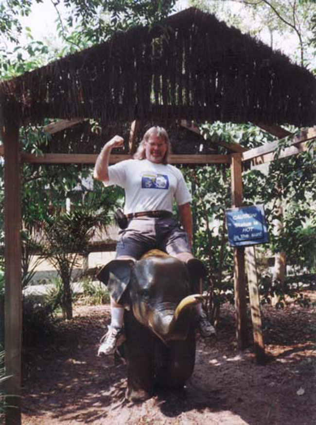 Jeff, bigger than an elephant , at Lowry Park Zoo