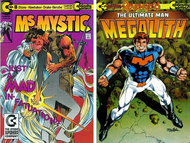 Ms. Mystic and Megalith covers by Neal Adams
