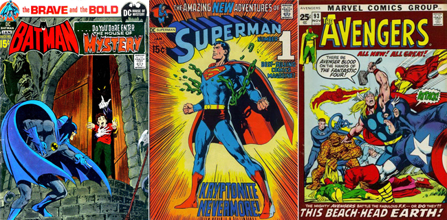 Various covers by Neal Adams