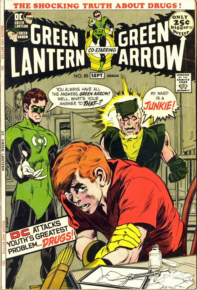 Cover of Green Lantern & Green Arrow 85 by Neal Adams